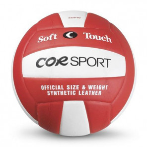 Pallone Volley COR SPORT Supersoft in Poliuretano rosso